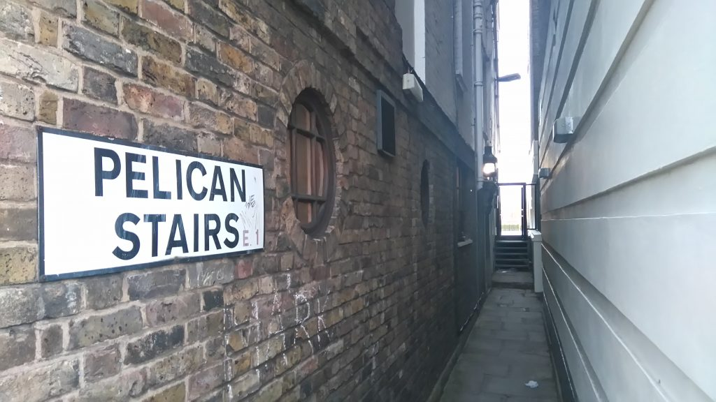 The alley running down the side of the Prospect of Whitby leading to the shore of the Thames.