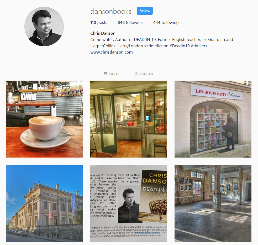 Chris Danson instagram feed